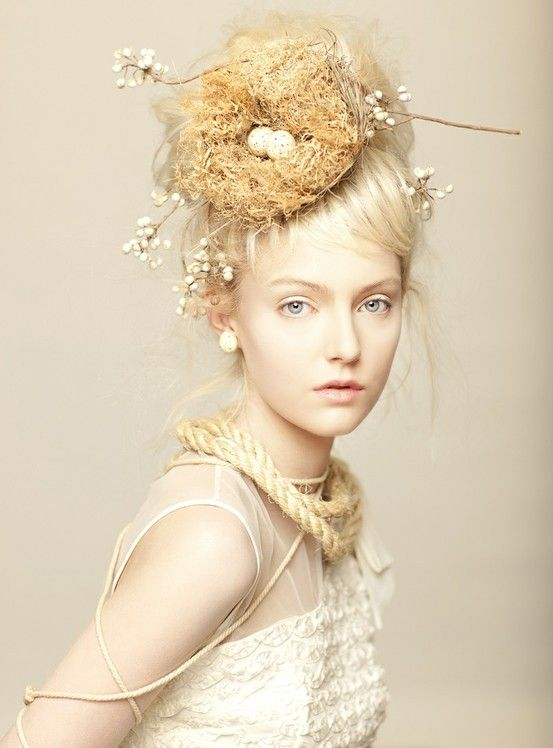 Rus Anson Photography. Stunning! I wish I had a nest of birds in my hair... Then I could eat eggs all the time!