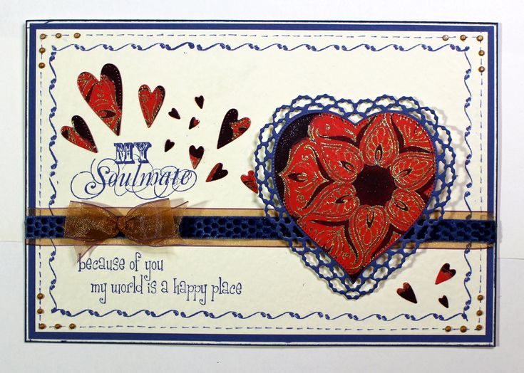 Valentine card created with Words of Love, Harlequin Rose and Teardrop Baroque Ornament stamps from Chocolate Baroque. Anne Waller #chocolatebaroque #stamping #cardmaking
