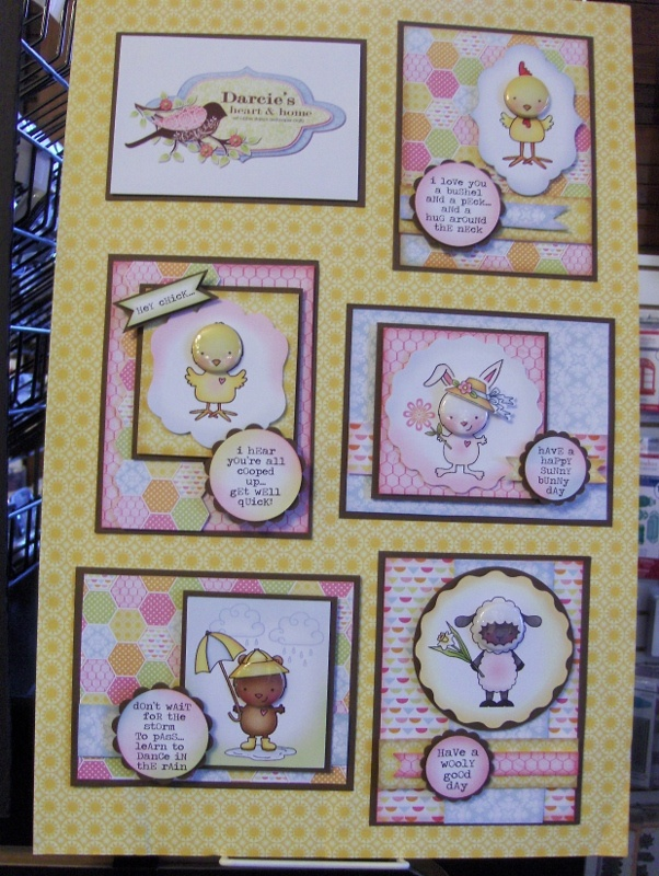 More new tin pins and coordinating stamp sets from Darcie's!