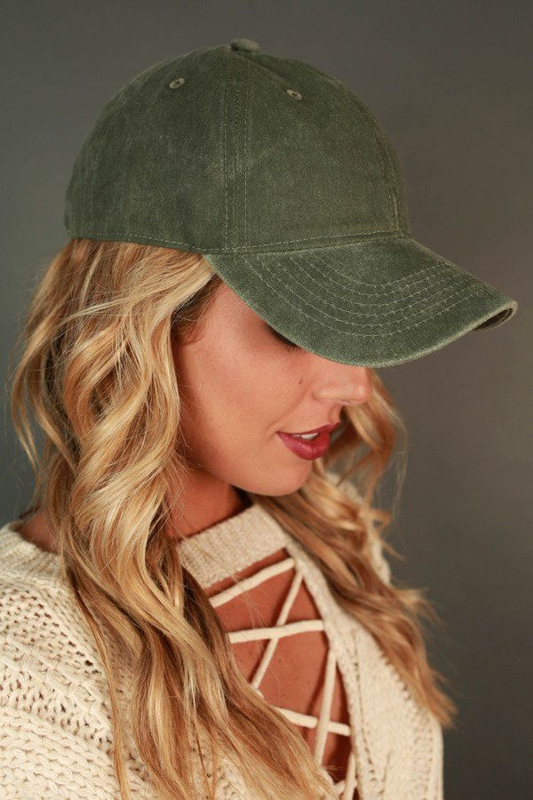 Faded Favorite Hat in Army Green
