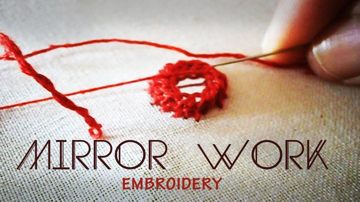 Mirror work : Indian Embroidery tutorial...no more words needed to learn this beautiful work