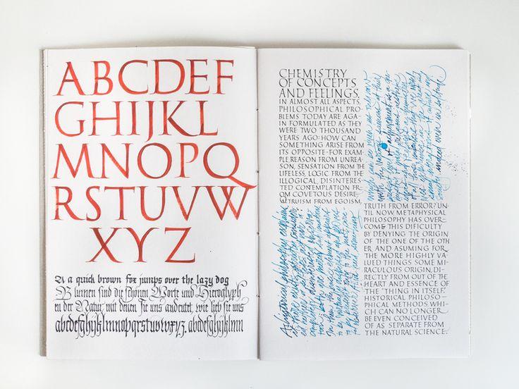 Calligraphy Sketchbook - Joan Quirós