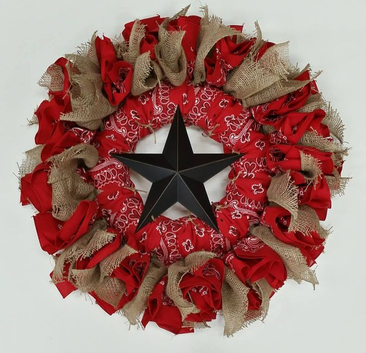 The Western Bandanna Wreath is a perfect addition to any country or rustic…