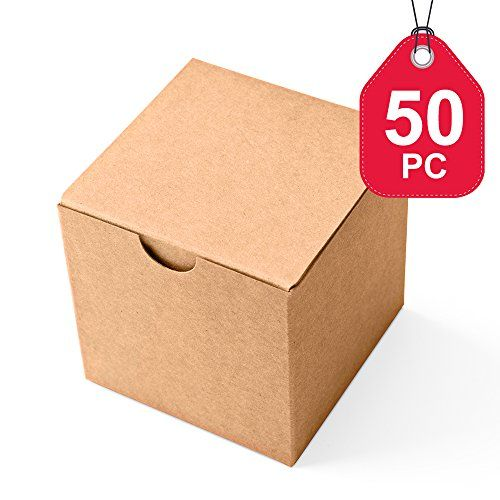 Mesha Kraft Boxes 50 Pack 3 X 3 X 3 Inches Brown Paper G Https Www Amazon Com Dp B01n8ytj70 Ref Cm S Gift Boxes With Lids Paper Gift Box Small Gift Boxes