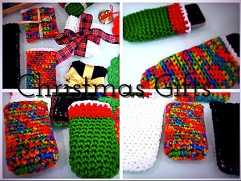Last Minute Christmas Gift Idea /Crochet Cell Phone Pouch (In 15 Minutes)