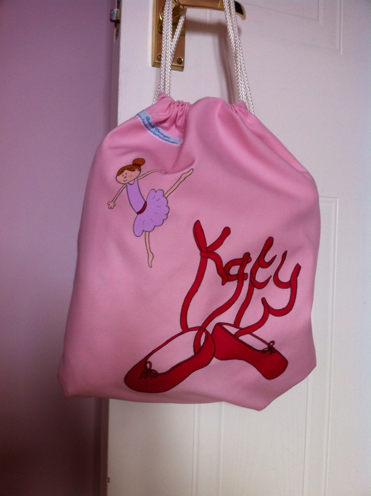 When Katy goes to dance class she won't get her shoes mixed up with this gorgeous personalised bag