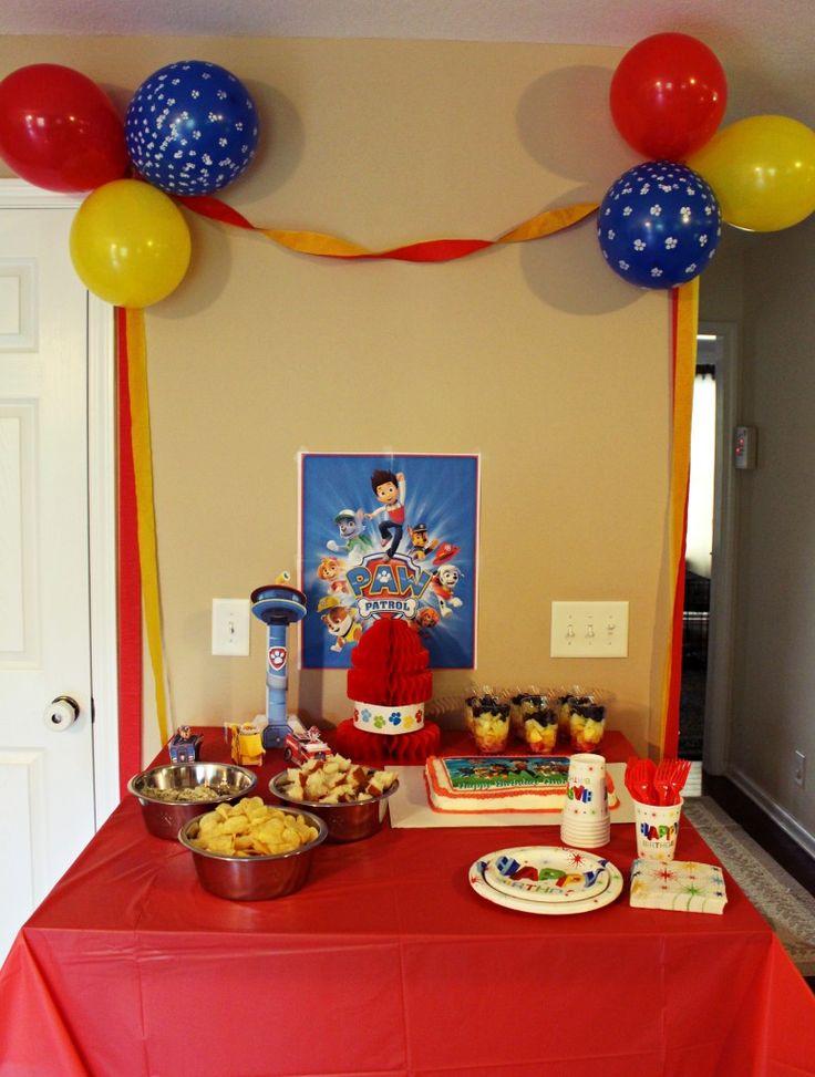 17 best ideas about paw patrol balloons on pinterest paw - Ideas para fiestas infantiles en casa ...