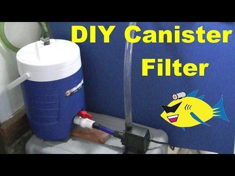 Pinning this to save and show my brother. He breeds fish and sells them. Has tons of tanks. How To Make: DIY Canister Filter (Aquarium Filter) - YouTube