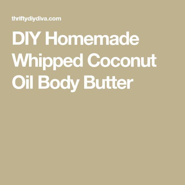 DIY Homemade Whipped Coconut Oil Body Butter