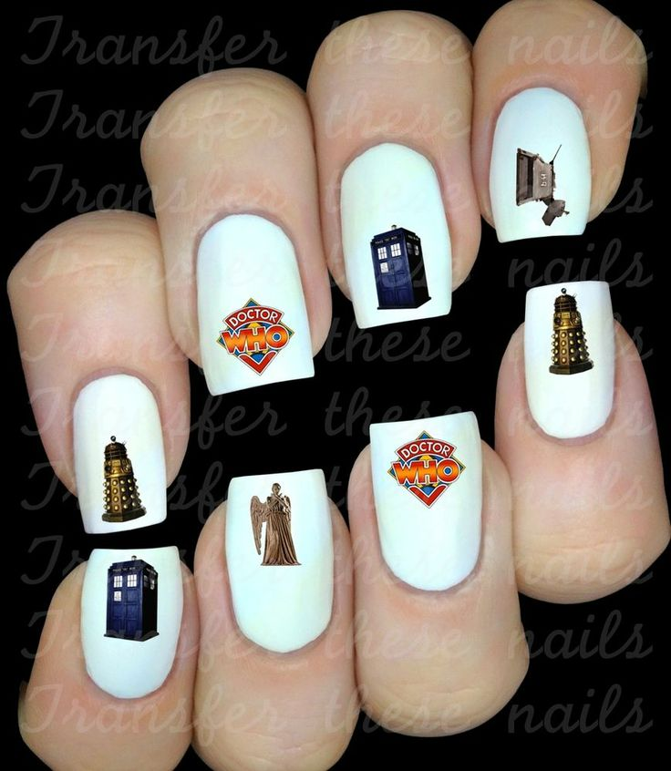 30 DOCTOR DR WHO NAIL ART DECALS STICKERS /TRANSFERS PARTY FAVORS WHOVIAN