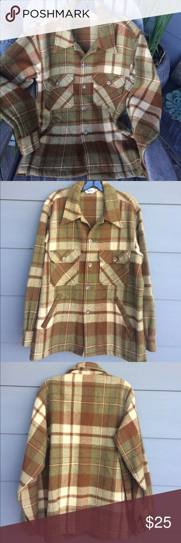 Vintage Woolrich Plaid wool Jscket Awesome vintage Woolrich mens jacket with side pockets. Excellent condition. Such a cool hipster look for men or women. Woolrich Jackets  Coats Lightweight  Shirt Jackets