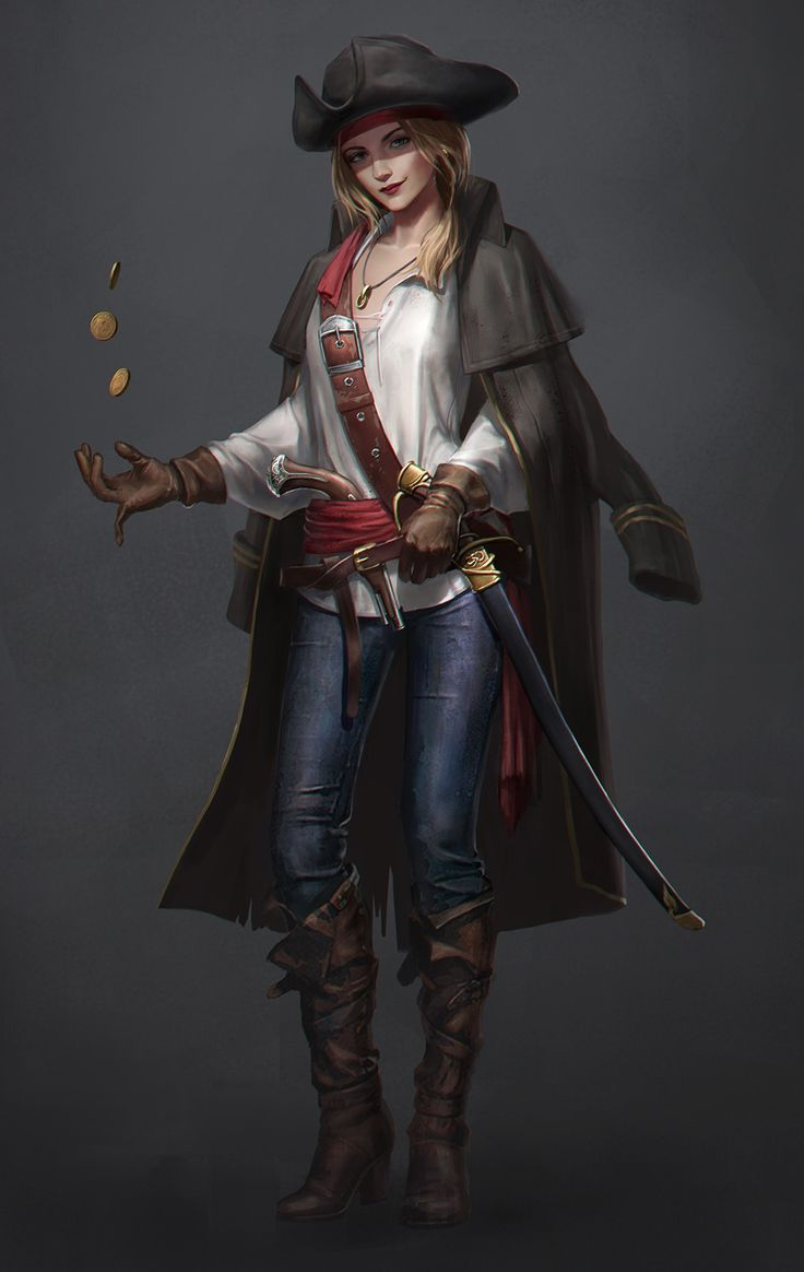 "we-are-rogue: "" Pirate, by Eryc TSang @we-are-pirate "" anyone notice she's missing a finger?"