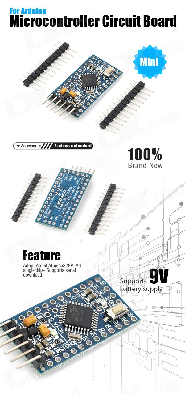 Pro Mini Microcontroller Circuit Board for Arduino (5V / 16MHz ...