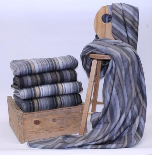 These wonderfully soft Alpaca blankets are great for cold Canadian winters and cool summer evenings. Each one is unique in colour stripes and blended shades