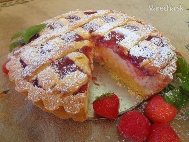 Tvarohovo-jahodový koláč (fotorecept)