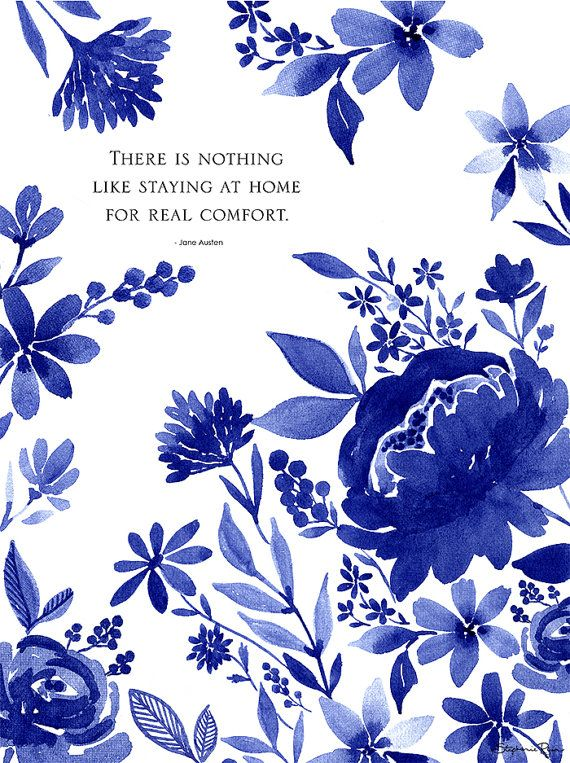 Indigo Garden Art Print by stephanieryanart on Etsy