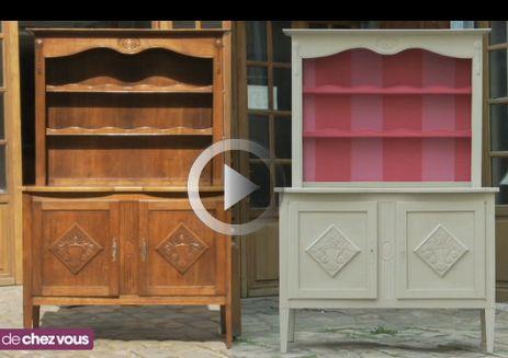 relooker un buffet deux corps poncer le buffet appliquer la sous couche ensuite d limiter. Black Bedroom Furniture Sets. Home Design Ideas