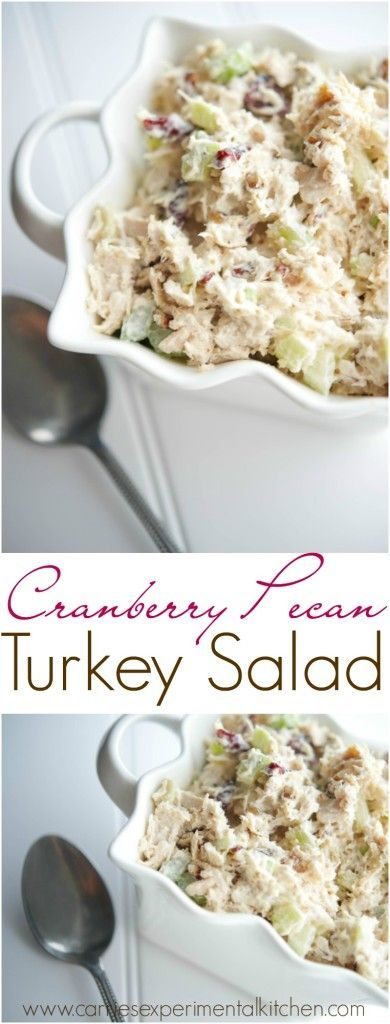 Cranberry Pecan Turkey Salad - Turn your leftover Thanksgiving turkey into a new Fall favorite sandwich by adding sweet cranberries and savory pecans.