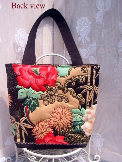 A personal favorite from my Etsy shop https://www.etsy.com/listing/215949571/quilt-asian-floral-tote-bag-purse-with