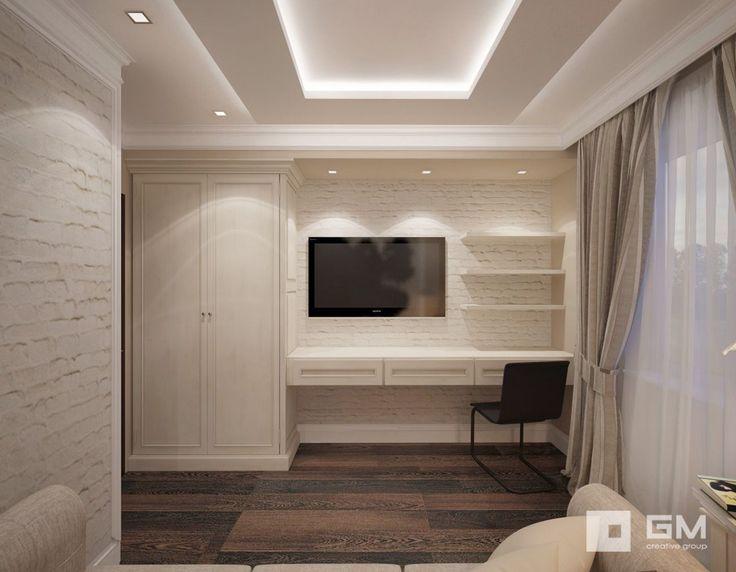Дизайн-проект мужской спальни в 3-х комнатной квартире
