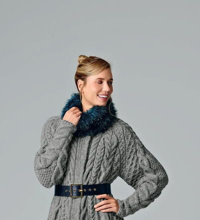 The Tamsin Chunky Neckwarmer is a beautiful blue knit cowl you won't be able to resist. This free knitting pattern is made with bulky weight yarn, so you will stay warm and cozy without sacrificing on style.