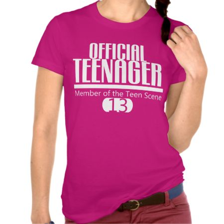 Stylish and fun your teen will love wearing our Official TEENAGER 13th BIRTHDAY Tee. {member of the teen scene} Great to wear on their birthday or anytime of the year.