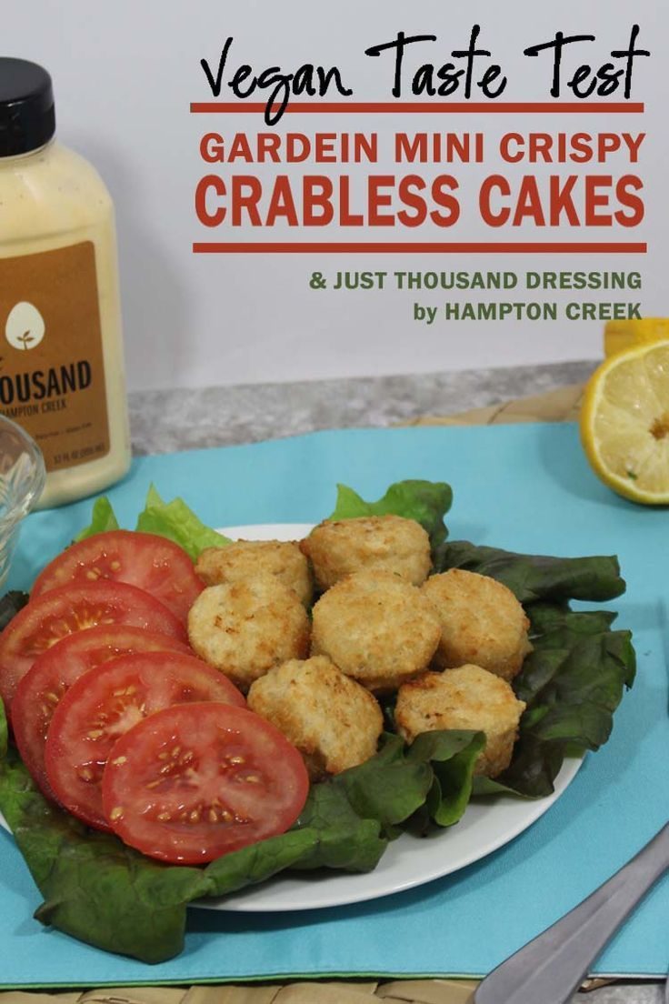 Taste testing the Gardein Mini Crispy Crabless Cakes. Vegan, non-gmo, dairy free and suitable for shellfish allergies. Perfect starter for dinner parties.