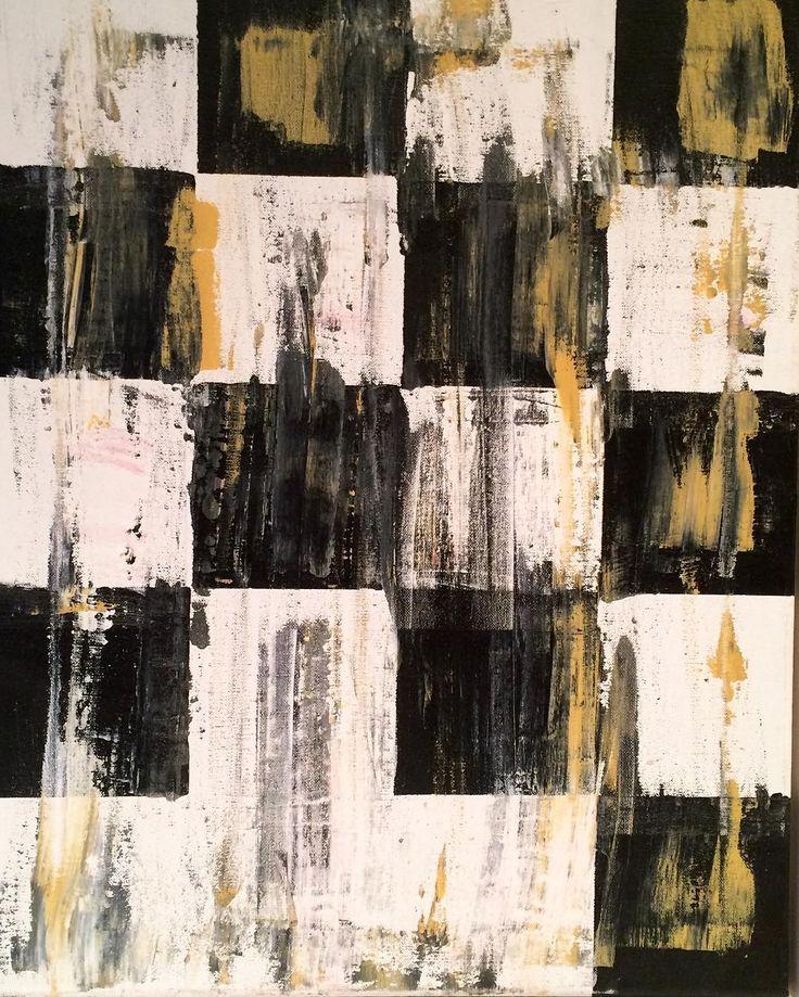 """""""Sort og hvid"""" """"Black and White"""" Copyright by www.anne-mette.com  #modernart #modernpainting #blackandwhite #sortoghvid #squares #firkanter #artgallery #kunst #danishartist #nordicart #noiretblanc #maleri #painting #pinterest #pin #tilsalgkbh #tilsalg #forsale #email #emailme #kunst@anne-mette.com"""