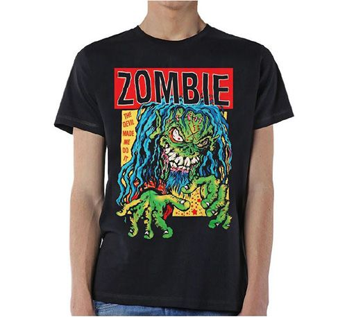 Rob Zombie Men's Tee: Devil Made Me Do It Wholesale Ref:RZTEE05MB