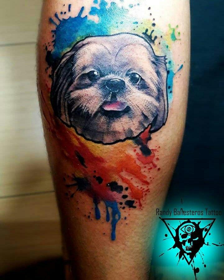 Dog Watercolor Tattoo Watercolor Dog Animal Tattoo Watercolor