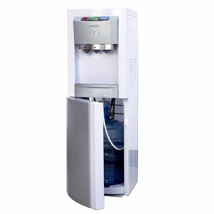 Bottom Loading Hot/Cold and Natural Water Dispenser, Whites