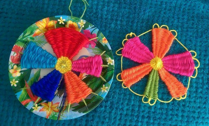 Weaving on and off plate