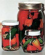 Lecker: In Essig eingelegte Chilis.