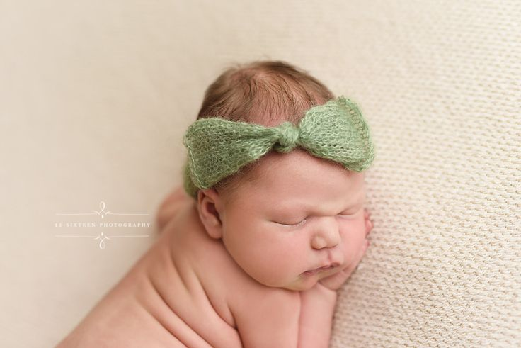 Sage Green Wide Bow Mohair Headband | Beautiful Photo Props