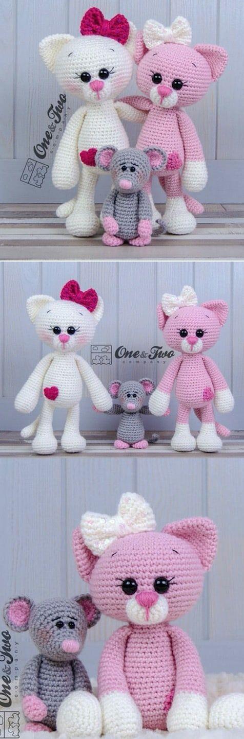 Amigurumi Cat Crochet Pattern Easy Video Tutorial