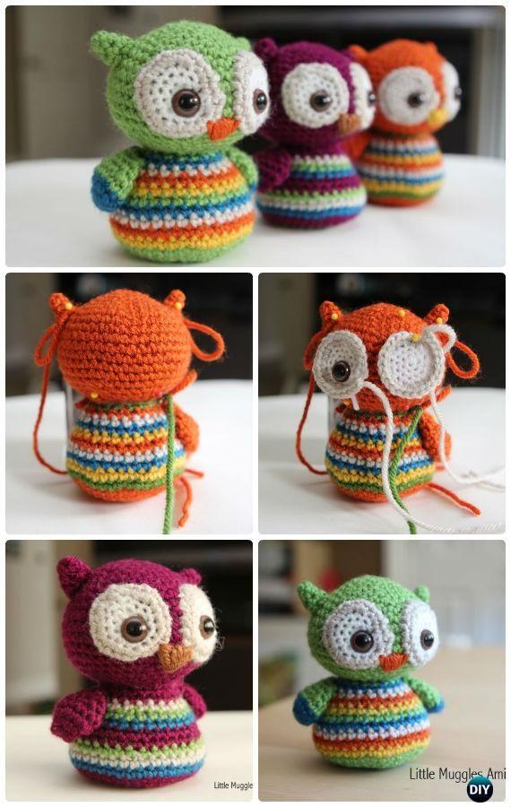 Crochet Amimigurumi bambino Owl Pattern-Amigurumi libero del crochet del GUFO modelli liberi
