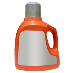 Craft ideas using laundry detergent bottles. Cut the top half off a plastic clothes detergent or fabric softener bottle leaving as much of the handle as possible.  The bottom half of the bottle will become the boat.