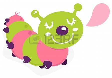 Colorful caterpillar. Vector cartoon Illustration