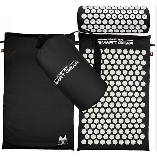 NEW Lotus Yoga Mat and Spikes Pillow Acupressure Set + Free Bag