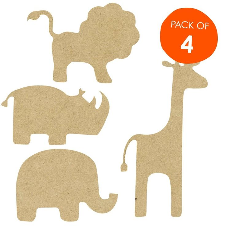 Wooden Safari Animal Shapes Image Baby Shower For A Boy