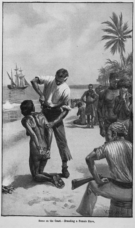 Branding a female slave ...