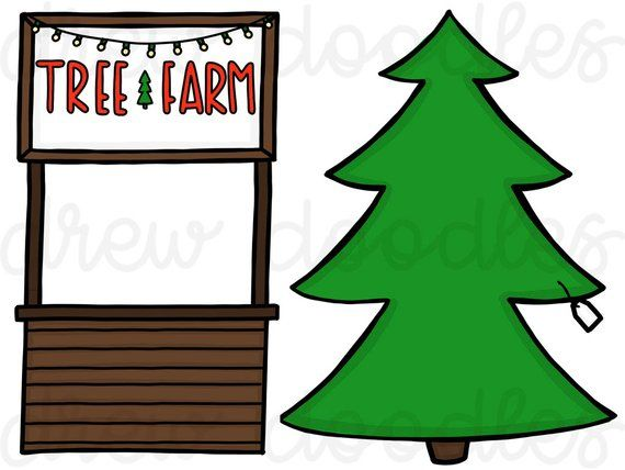 Christmas Tree Farm Digital Clip Art Set Instant Download Etsy In 2020 Digital Clip Art Set Clip Art Digital Clip Art