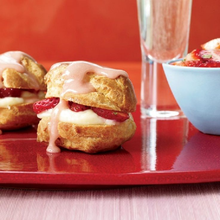 Strawberry Cream Puffs | Desserts | Pinterest