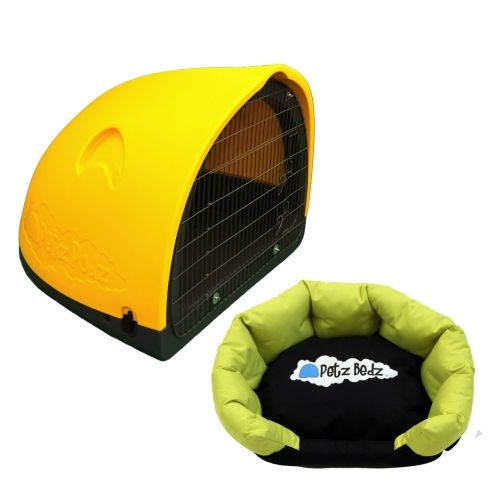 Puppy Pod Home Induction Package - yellow.  3 sizes available. 6 funky colours.