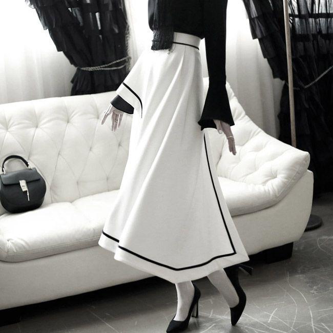 Unbalanced Skirt lining SK1218