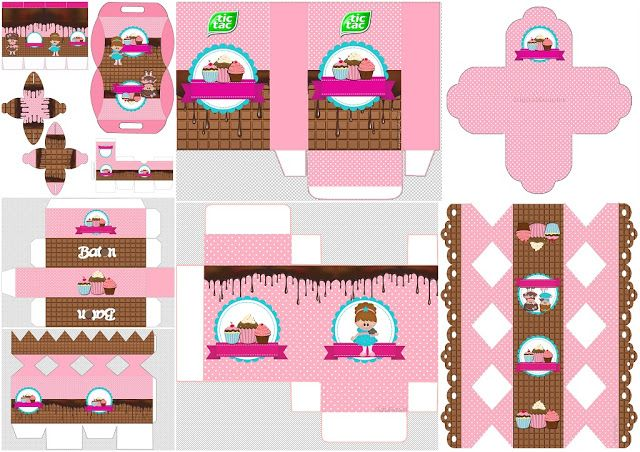 Girls Cooking Cupcakes: Free Printable Boxes.