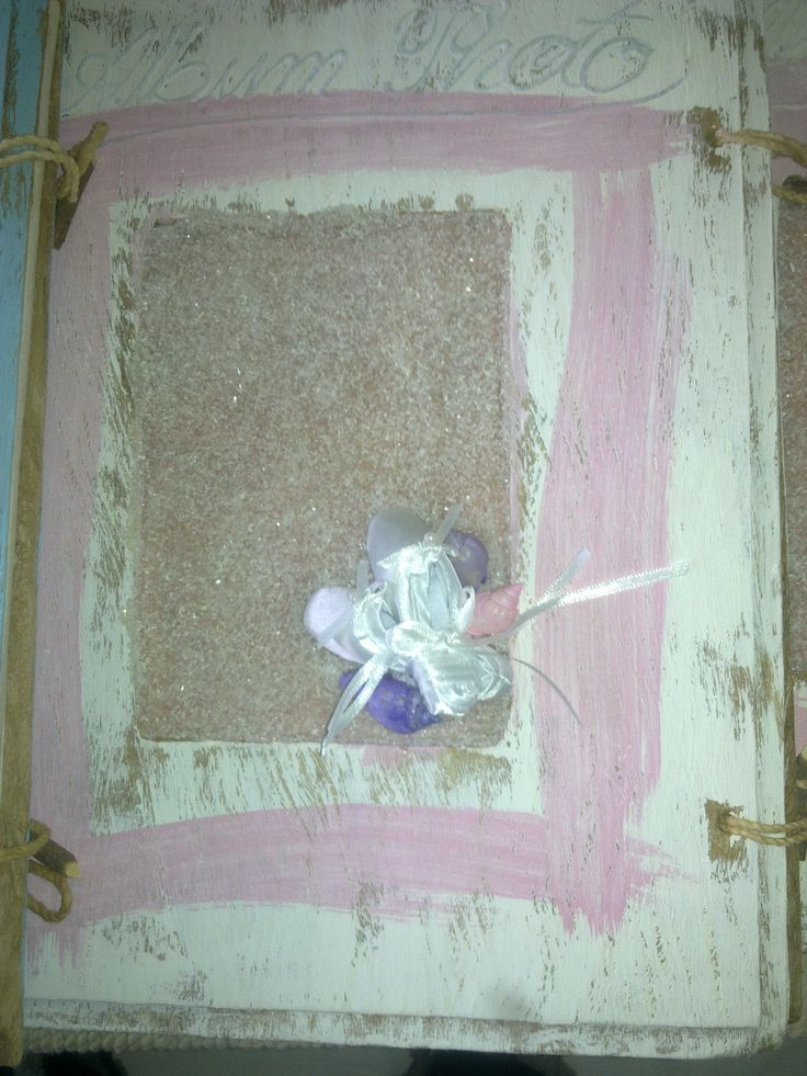 Hand made photo album with ballet shoes