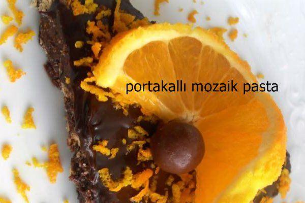 Mozaik pasta çok sevilen pratik pasta türü. Portakallı mozaik pasta ise muhteşem aroması ile damaklarda enfes bir tat bırakıyor. Portakal kabuğu rendesi ve portakal suyu katılan pastanın enfes kokusu iştah açıcı cinsten. Mutlaka deneyin.  #pasta #tarifleri