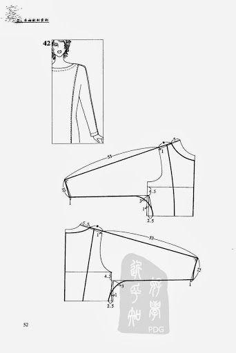 one-piece sleeve #sewing #patternsleeve  #patternmaking