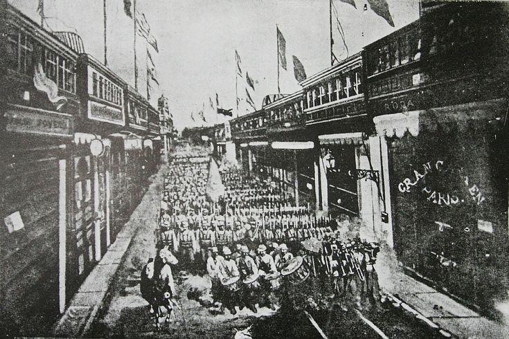 El regimiento Buin 1° de Línea ingresa a Lima el 17 de enero de 1881
